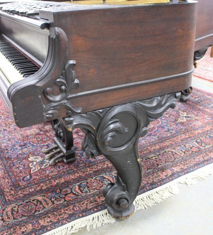 Scroll Leg Rosewood William Knabe Grand Piano - 5
