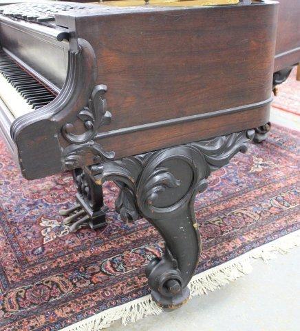 Scroll Leg Rosewood William Knabe Grand Piano - 5