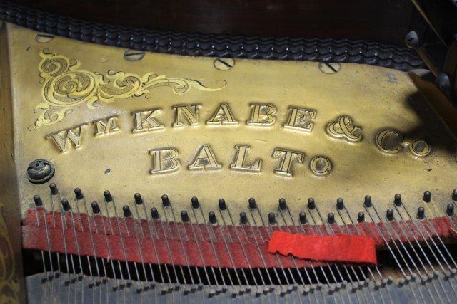 Scroll Leg Rosewood William Knabe Grand Piano - 6