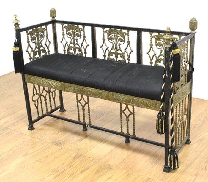 Oscar Bach Style Iron Bench - 2