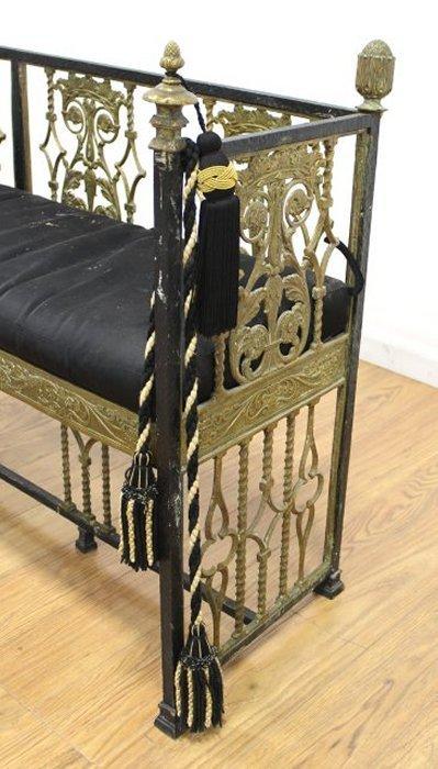 Oscar Bach Style Iron Bench - 3