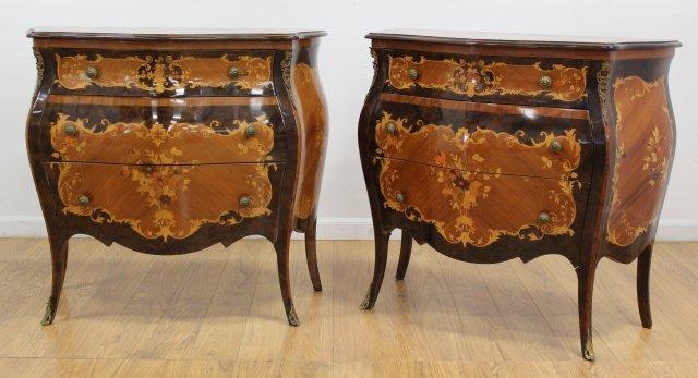 Pair of Italian Inlaid Commodes