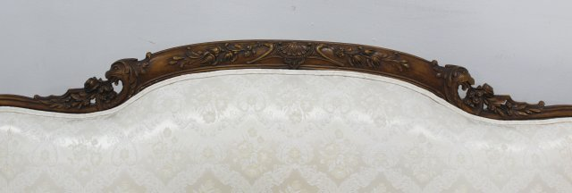 Carved Regency Style Down Cushion Sofa - 5