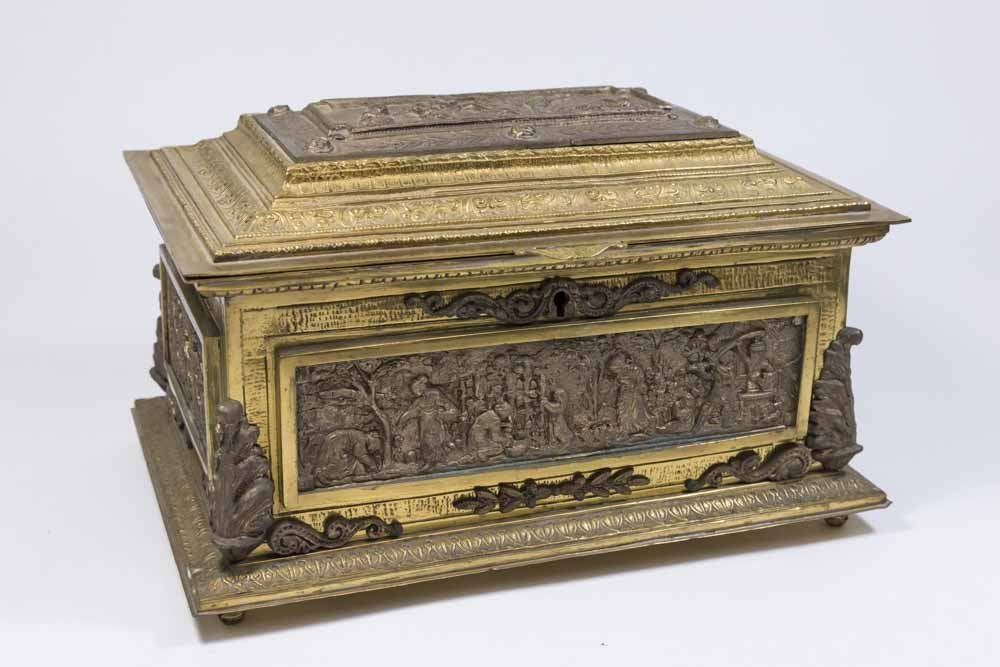Bronze Figural Jewelry Box