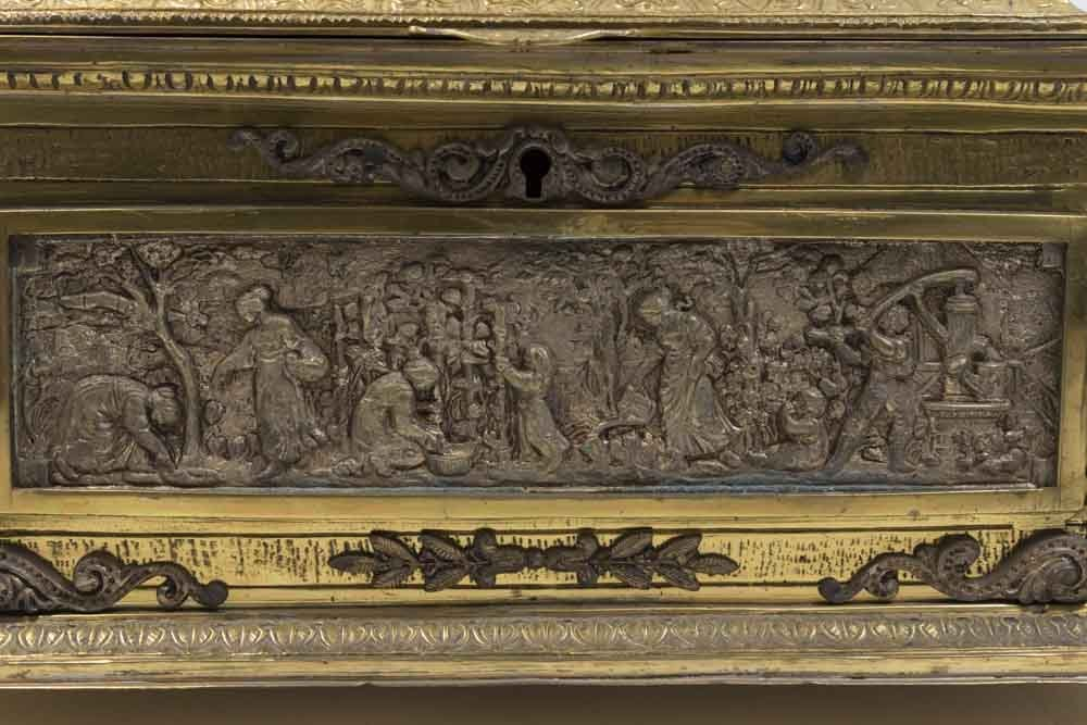 Bronze Figural Jewelry Box - 2