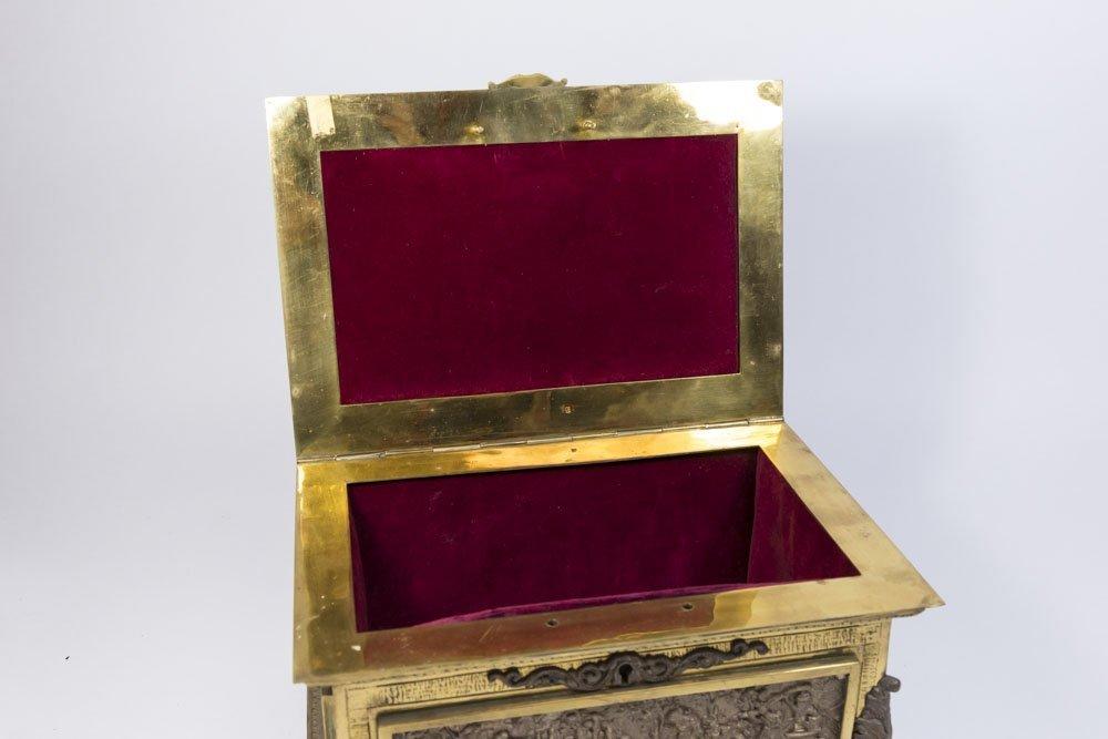 Bronze Figural Jewelry Box - 5