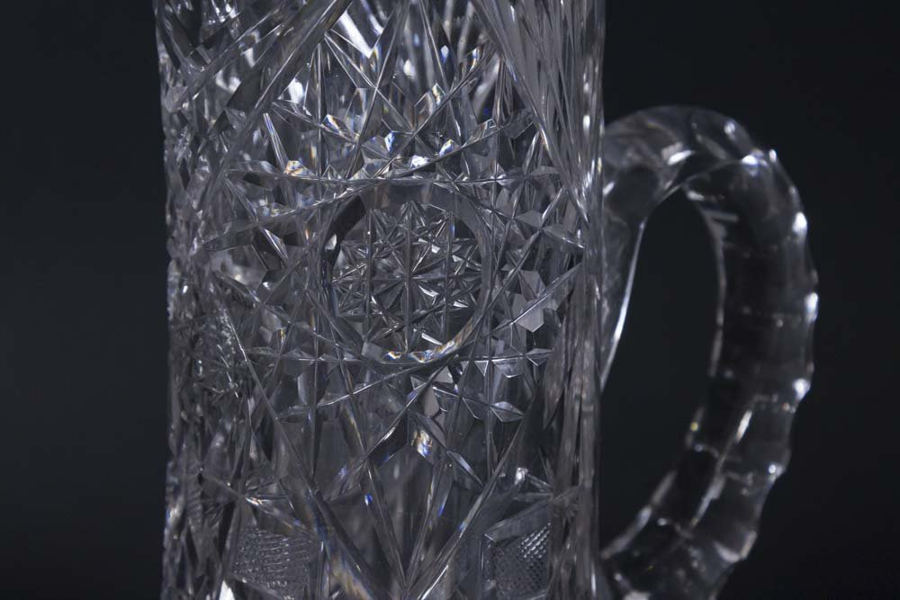 6 Cut Crystal Vintage Pitchers - 5