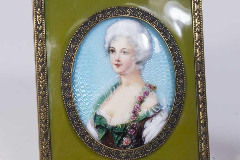 6 Miniature Portrait & 2 Porcelain Hand Mirrors - 2