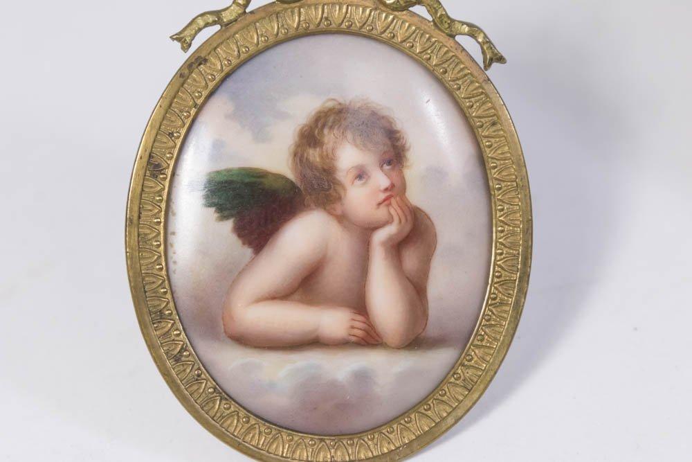 6 Miniature Portrait & 2 Porcelain Hand Mirrors - 4