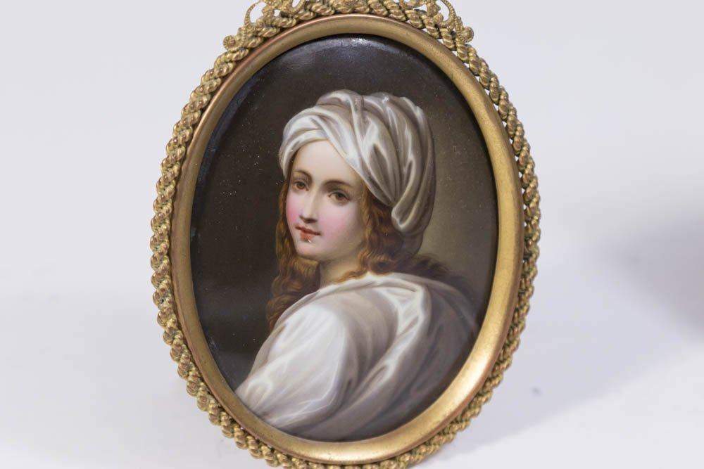 6 Miniature Portrait & 2 Porcelain Hand Mirrors - 5