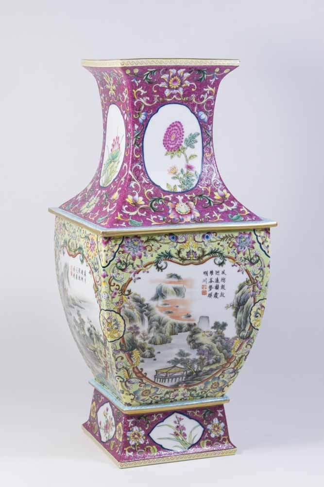 Chinese Porcelain Vase with Qing Long Mark