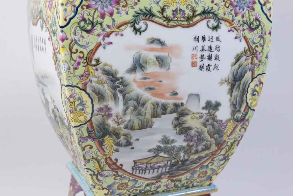 Chinese Porcelain Vase with Qing Long Mark - 4