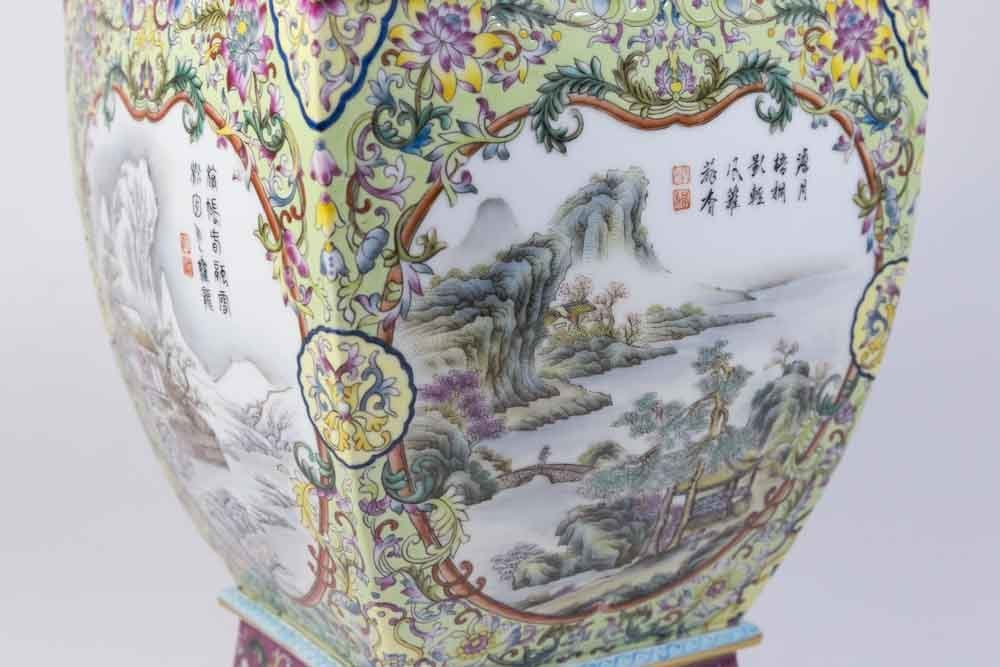 Chinese Porcelain Vase with Qing Long Mark - 5