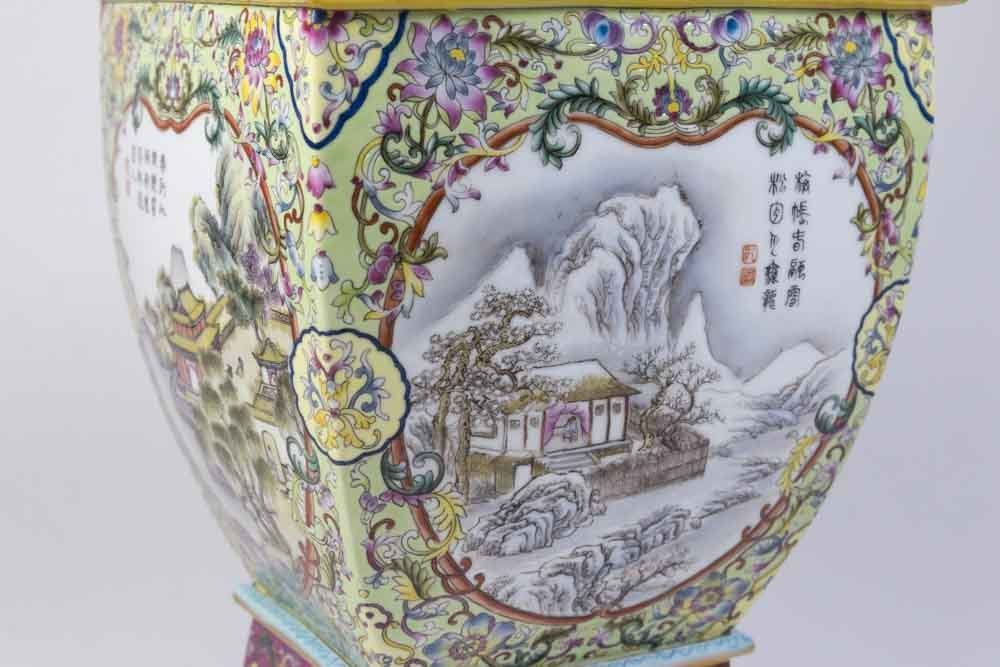 Chinese Porcelain Vase with Qing Long Mark - 6