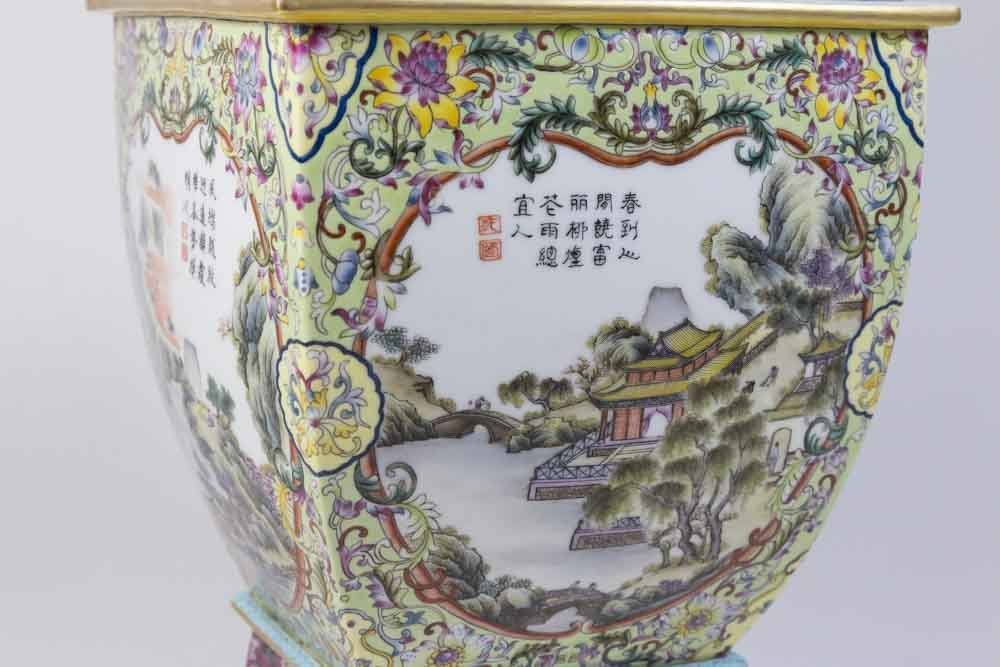 Chinese Porcelain Vase with Qing Long Mark - 7