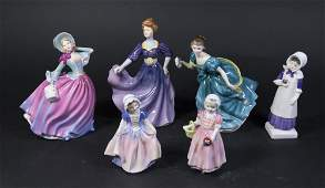 Lot of 6 Royal Doulton Figures