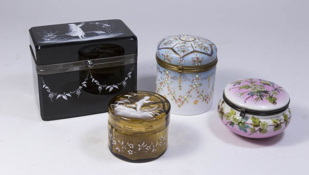 Lot of Glass and Porcelain Boxes