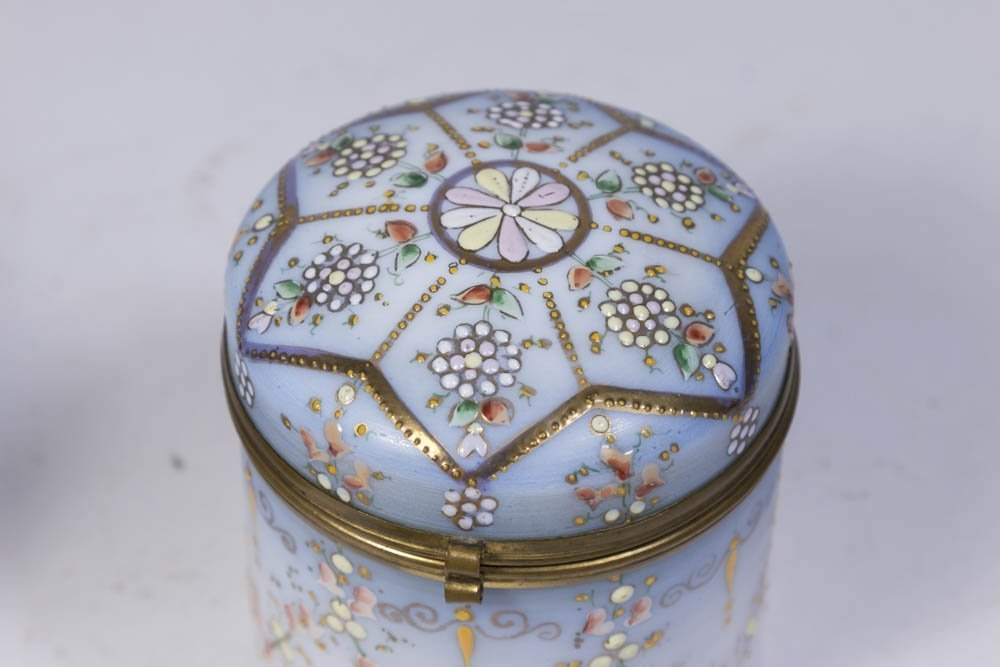 Lot of Glass and Porcelain Boxes - 3