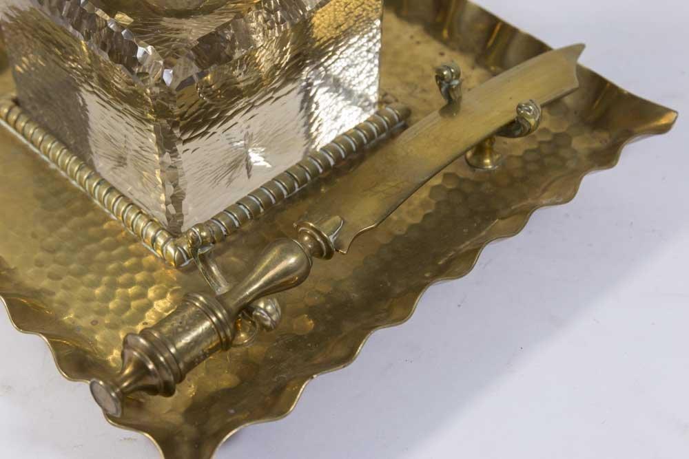 Hand Hammered Brass Inkwell - 2