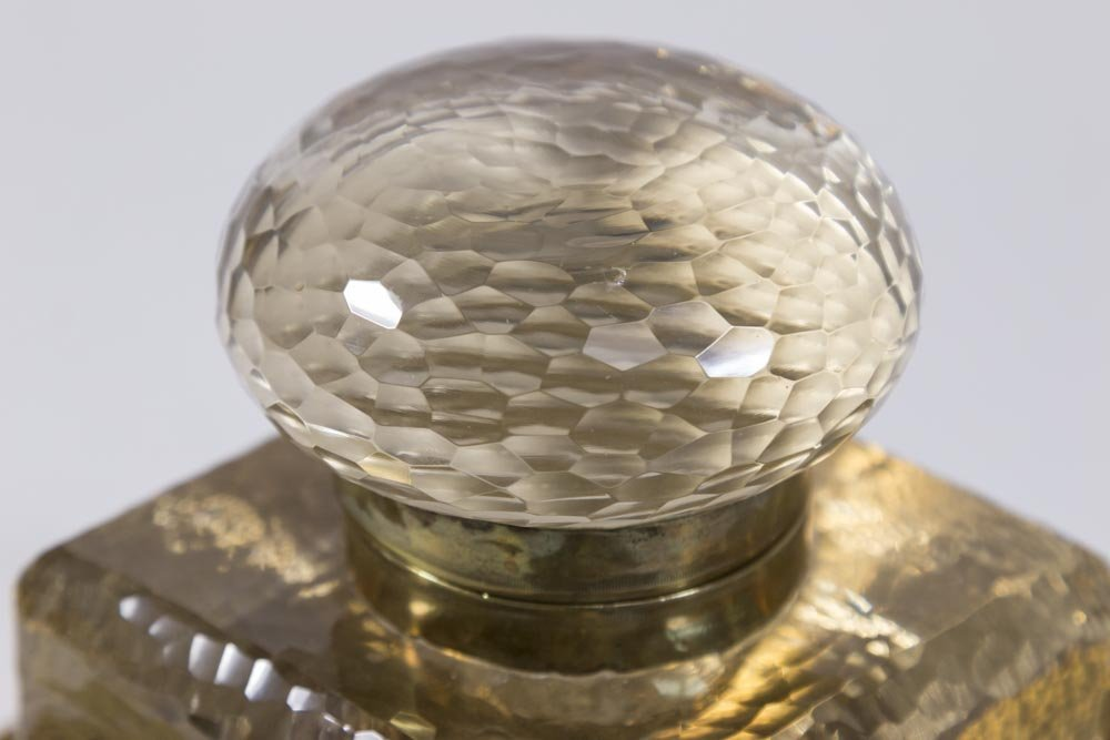 Hand Hammered Brass Inkwell - 3