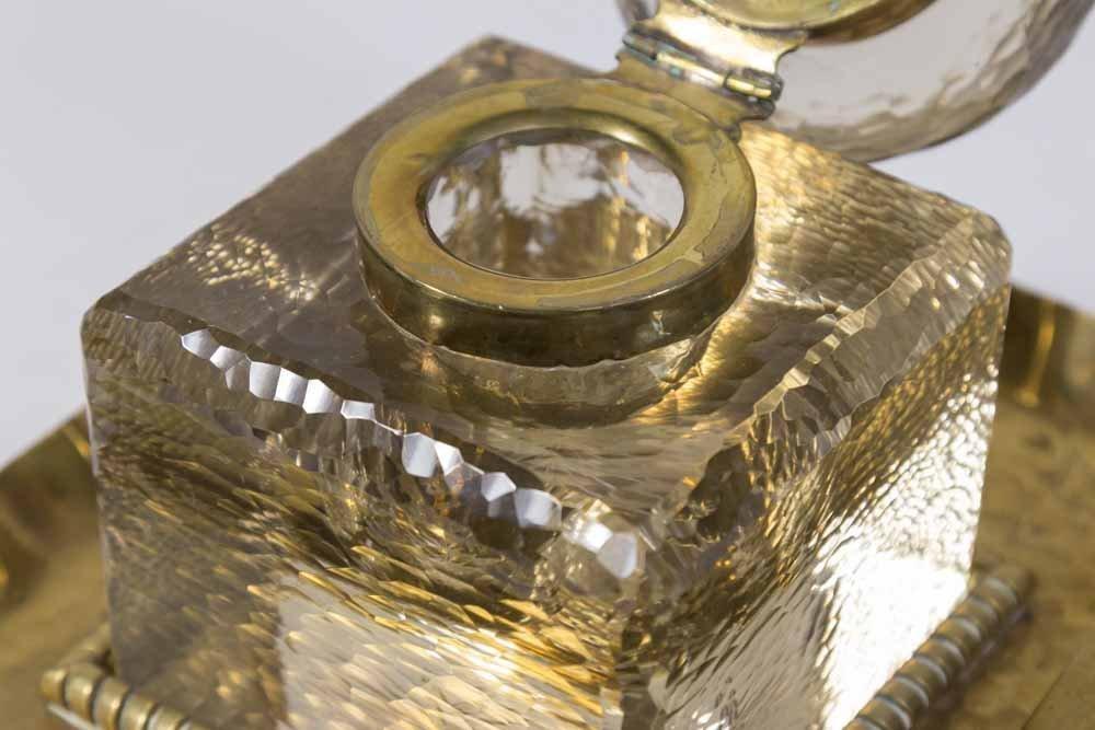 Hand Hammered Brass Inkwell - 4
