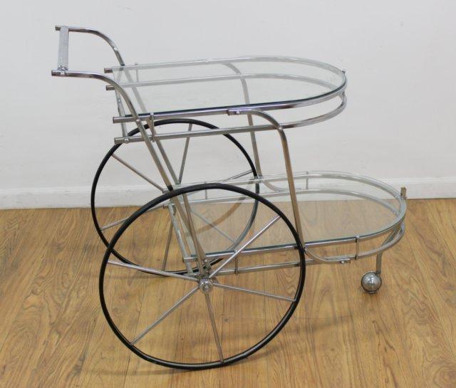 Chrome Tea Cart