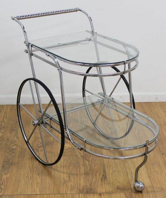 Chrome Tea Cart - 2