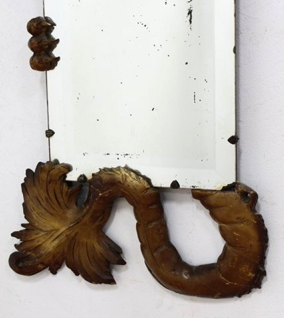 Asian Carved Wood Dragon Mirror - 3