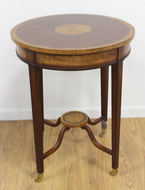 Banded Round Inlaid Table