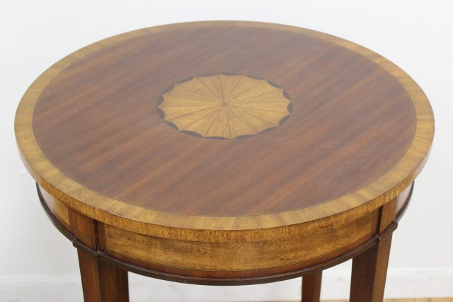 Banded Round Inlaid Table - 2