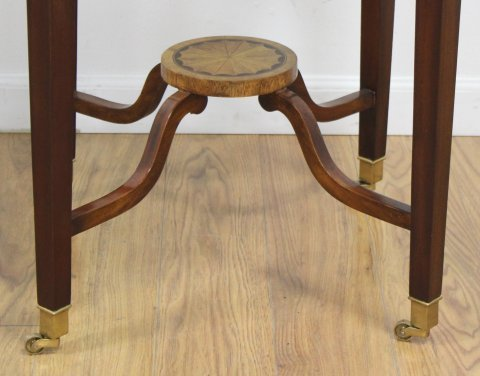 Banded Round Inlaid Table - 3