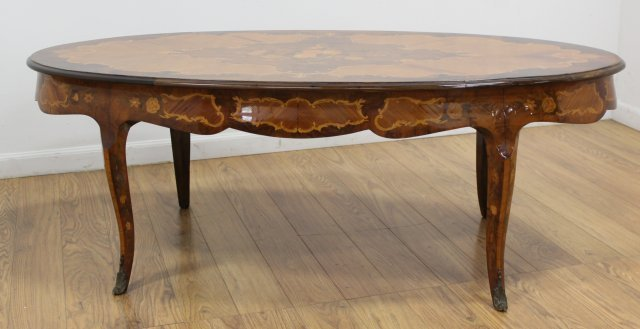 Italian French Style Inlaid Coffee Table