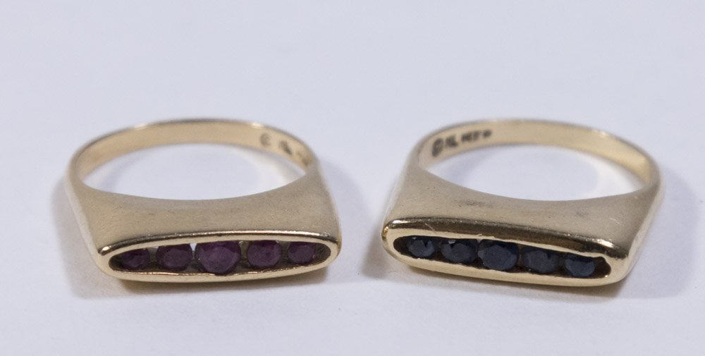 2-14K Yellow Gold Rings