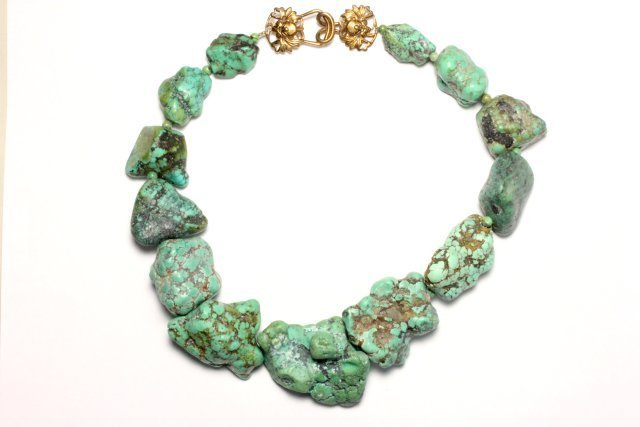 :Stephen Dweck Turquoise Chunk Necklace