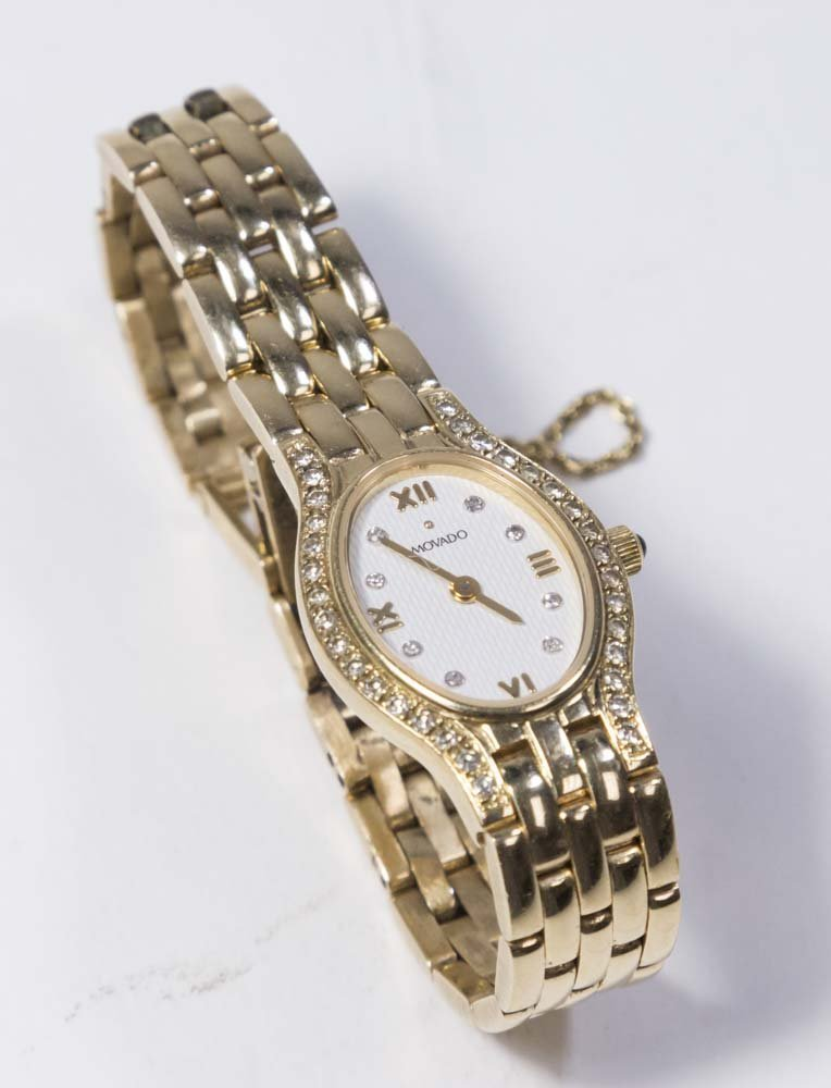 Movado 14K Yellow Gold Ladies Wrist Watch