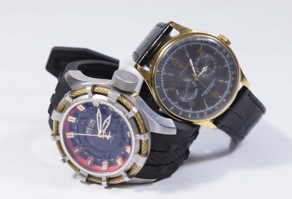 2 Invicta Men's Wrist Watches