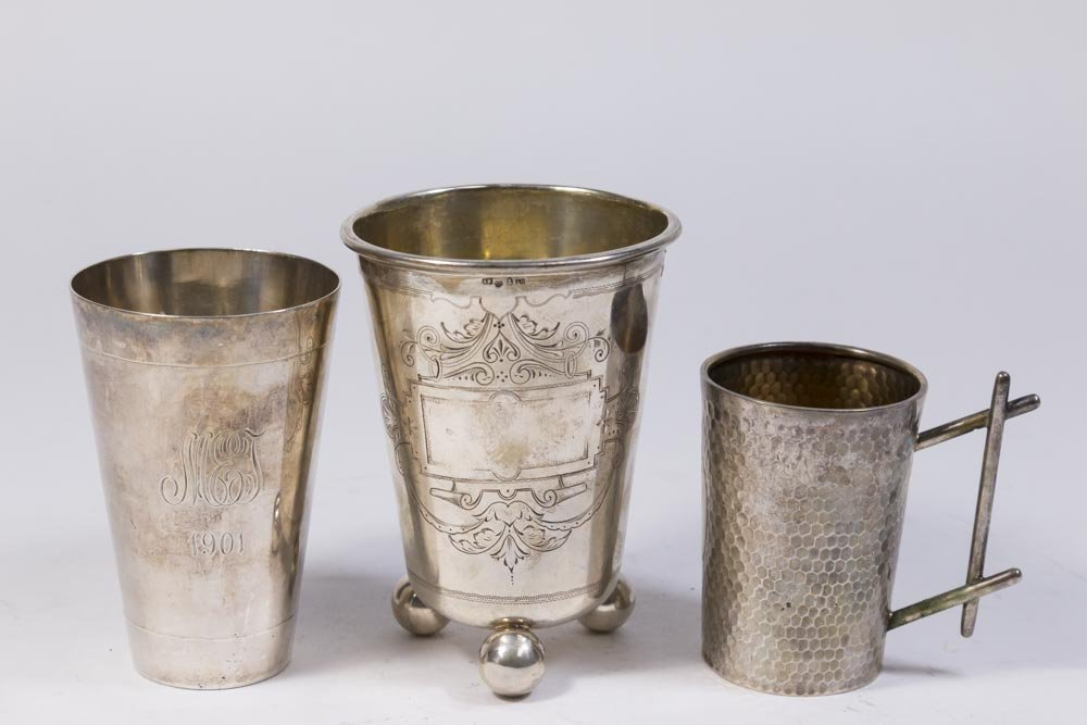 Lot of 3 Silver Cups