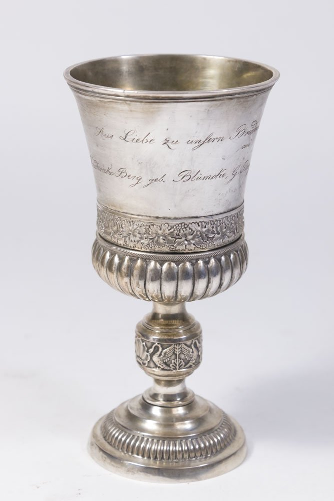 Antique German 12 Loth Silver Cup
