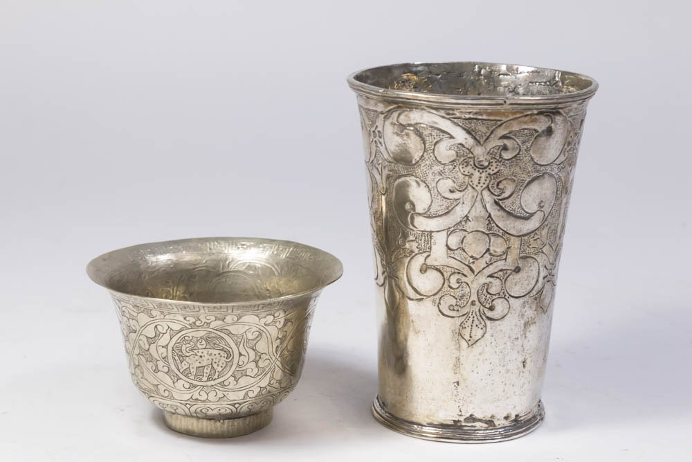 Two Possibly Continental Silver Cups