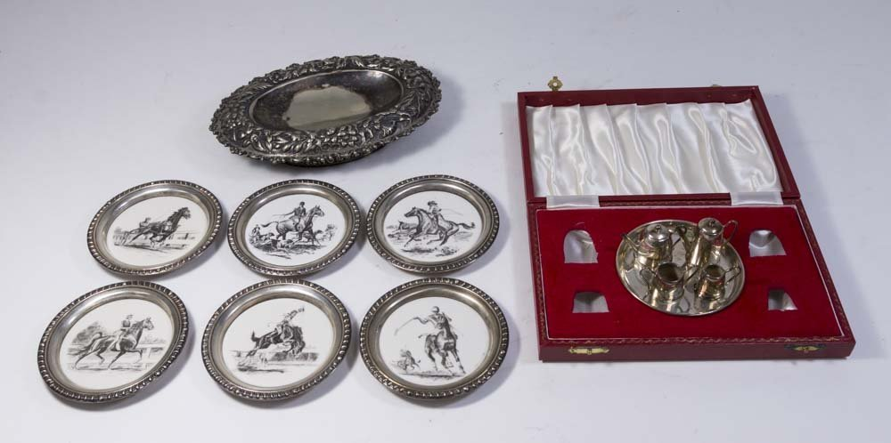Group Lot of Sterling & Silver Plated Items