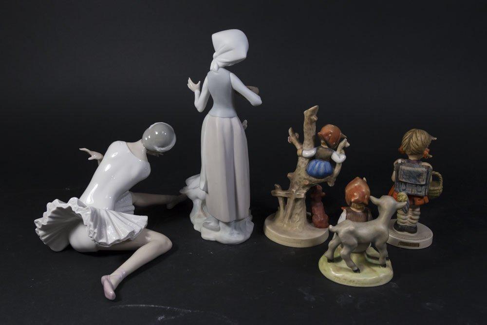 2 Lladro Figures & 3 Hummels - 5