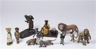 Lot 8 Vienna Style Cold Painted Bronze Figures
