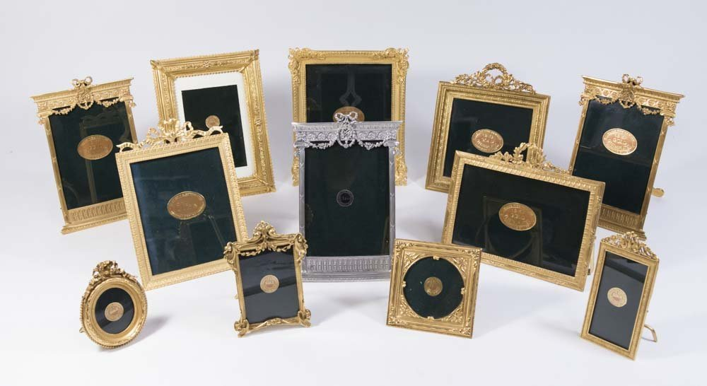 12 Elias Fine Pewter 24K Gold Plated Photo Frames