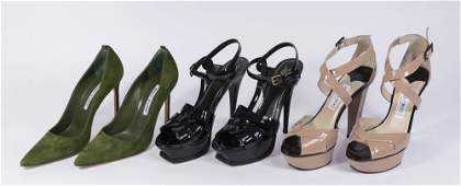 Group Lot of Women's Designer Shoes (3 Pairs)