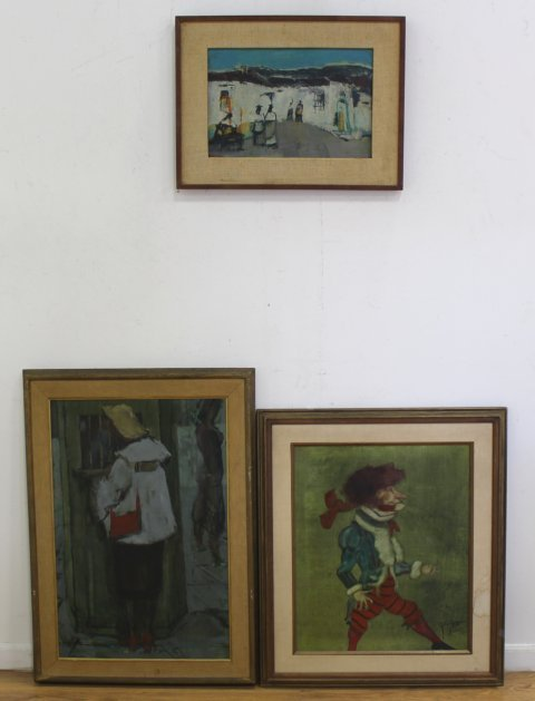 Group Lot 3 Signed Oil Paintings