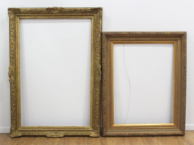 Lot of 2 Gilt Framed Large Frames