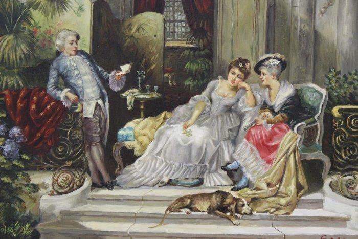 Interior Genre Scene, People Having Tea - 2