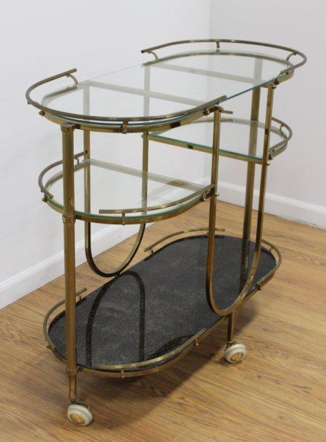 60s Brass & Glass 3-Tier Bar Cart - 2