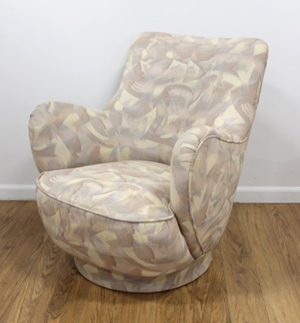 Directional Upholstered Swivel Club Chairs - 2