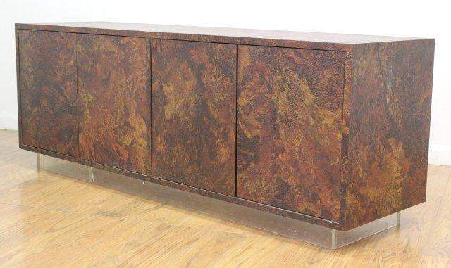 :Thayer Coggin Textured Veneered Side Cabinet